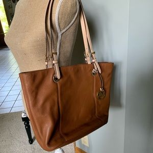 Michael Kors Camel Leather Tote Bag
